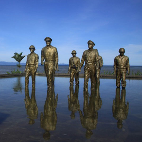Casting Customized Leyte Landing Memorial Bronze Military Statue Supplier BOKK-484