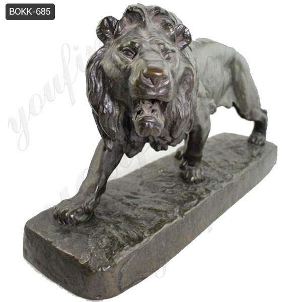 Hand Carved Large Antique Bronze Lion Statue from China Factory BOKK-685