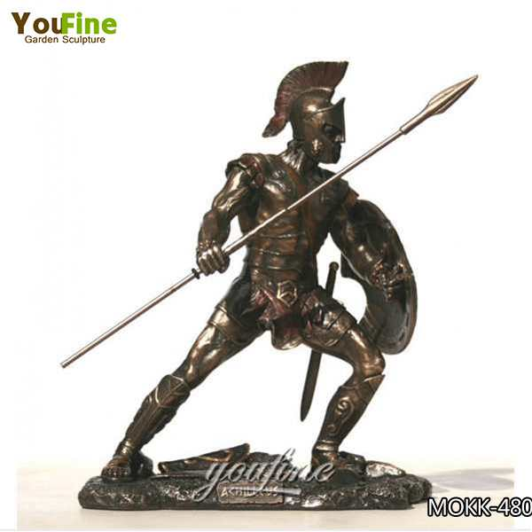 Large Size or Customized Military Trojan War Bronze Solider Statue Maker BOKK-480