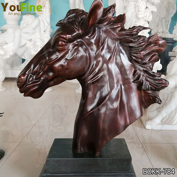 Life Size Antique Bronze Horse Head Statue for Interior Decoration Manufacturer BOKK-784