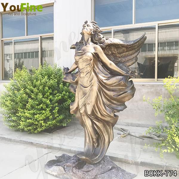 New Design Ornamental Bronze Statue Flying Angel Lady Replica Prices BOKK-774