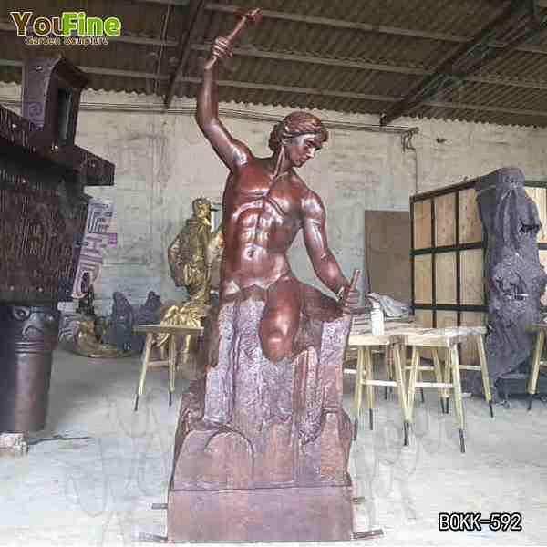 Artistic Antique Bronze Bobbie Carlyle Self Made Man Sculpture Replica for Sale BOKK-592