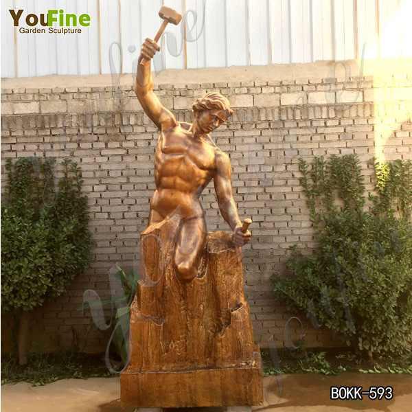 Customized Casting Brass Bobbie Carlyle Self Made Man Statue Manufacturer BOKK-593