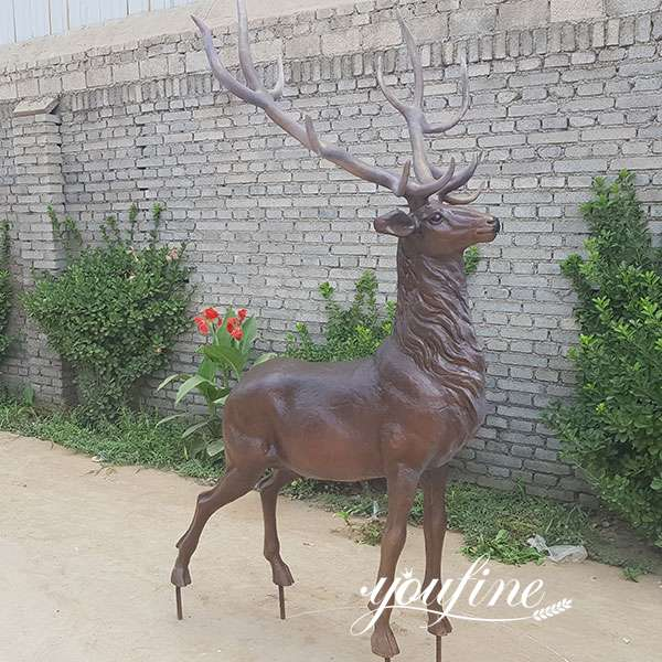Customized Outdoor Bronze Stag Statue for Sale BOKK-697
