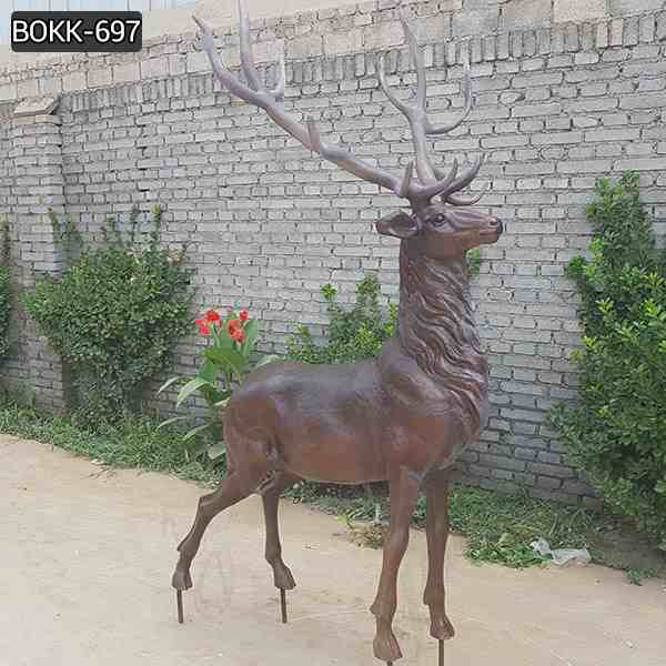 Customized Size Outdoor Bronze Stag Sculpture with Competitive Price BOKK-697