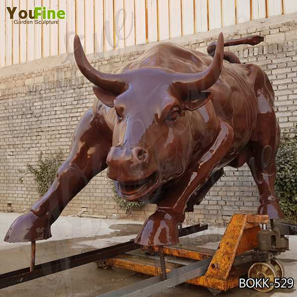 Famous Wall Street Bronze Bull Sculpture Replica for Garden Decor Maker BOKK-529