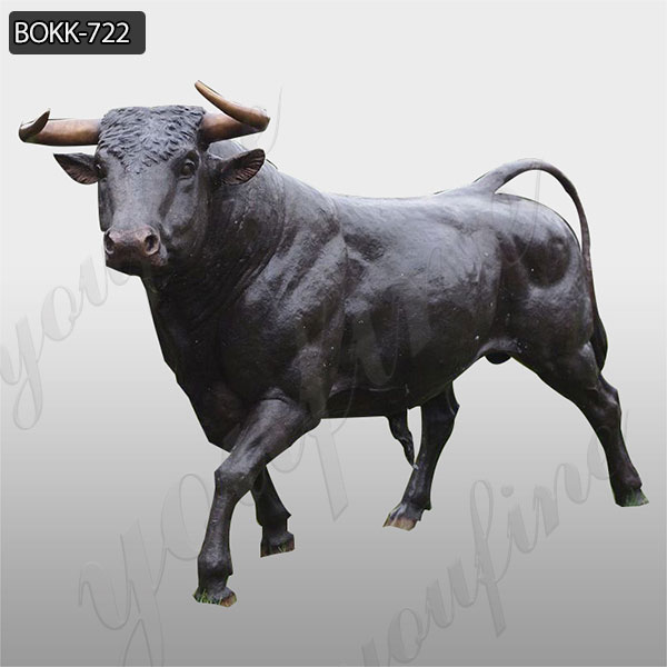 Hand Carved Large Size Custom Bronze Bull Sculpture for Garden Manufacturer BOKK-722