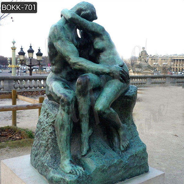 Hand Carved Superior Auguste Rodin the Kiss Bronze Statue Replica Online BOKK-701