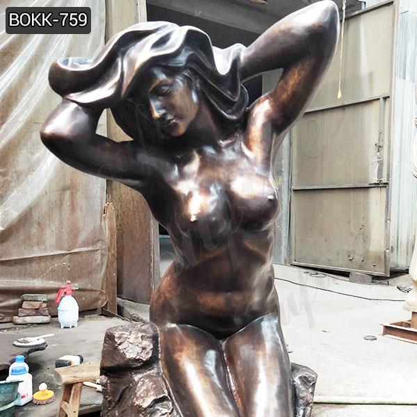 Handmade Outdoor Antique Bronze Nude Women Statue for Decor Manufacturer BOKK-759