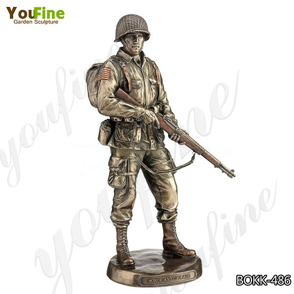 High-quality Casting Bronze Soldier Sculpture Outdoor Military Statues for Sale BOKK-486