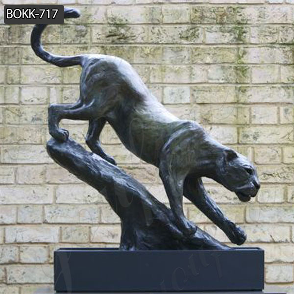 Large Size Outdoor Black Bronze Panther Statue for Decor from Factory Supply BOKK-717