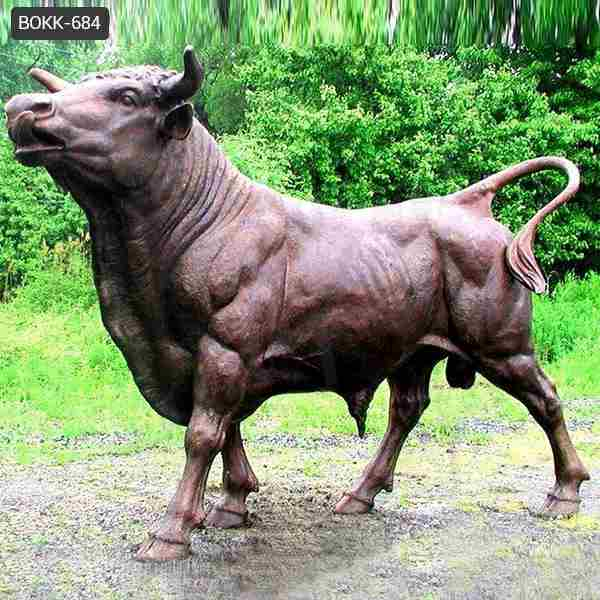 Large Size Outdoor Bronze Bull Statue for Garden Decoration with Competitive Price BOKK-684