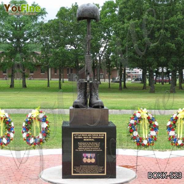 Life Size Memorial Casting Bronze Battlefield Cross Sculpture from Factory Supply BOKK-523