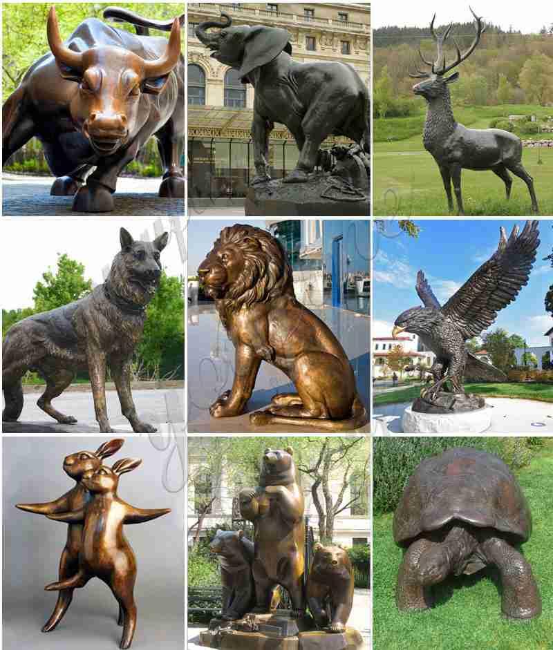 Outdoor Bronze Bull Sculpture