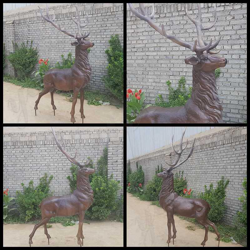 Outdoor Bronze Stag Statue for Sale BOKK-697