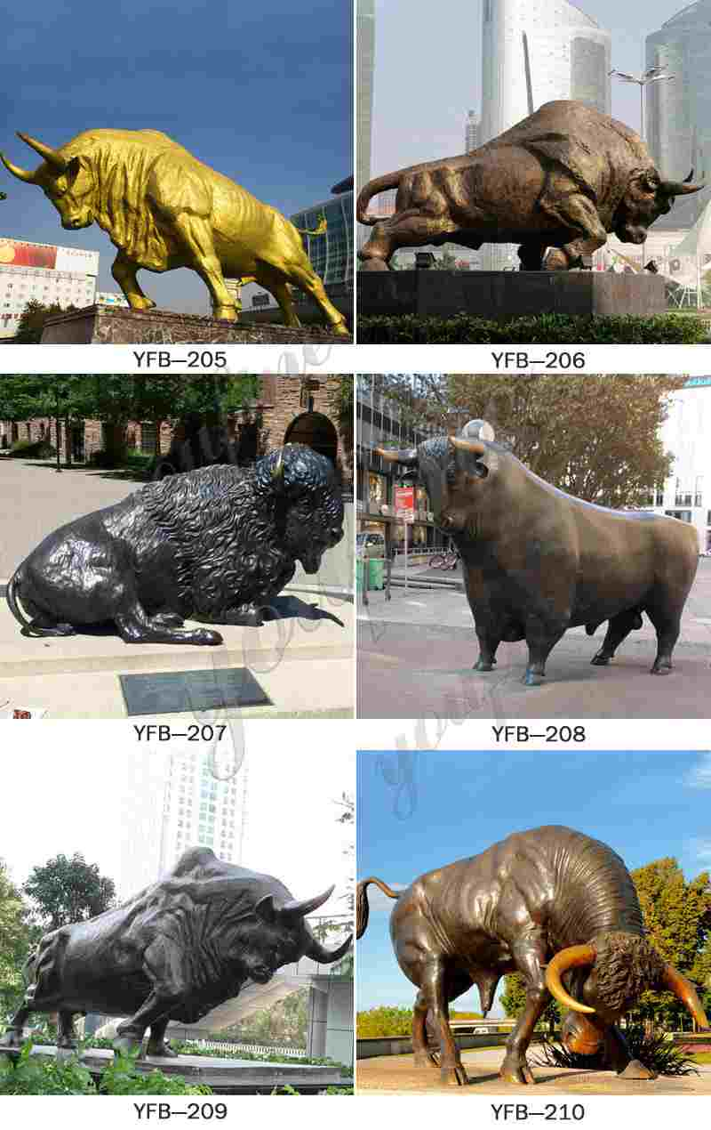 Wall Street Bronze Bull Sculpture Replica