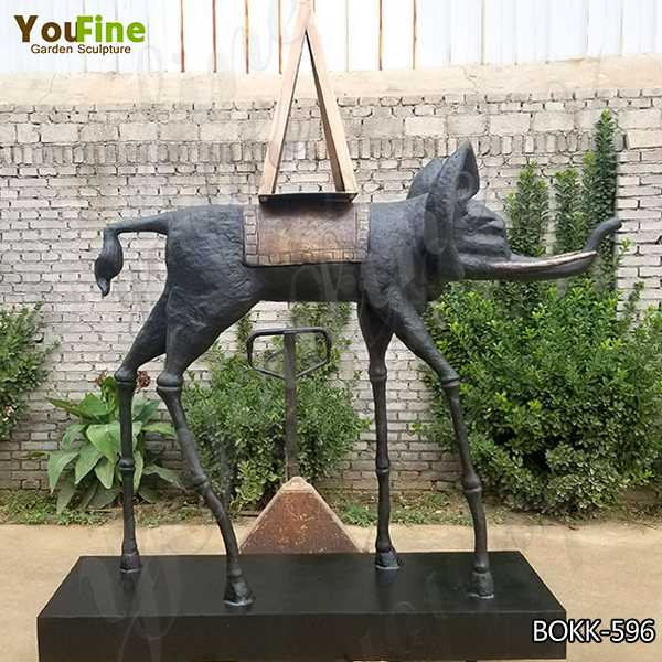 Abstract Artistic Bronze Elephant Sculpture for Outdoor Decoration Maker BOKK-596