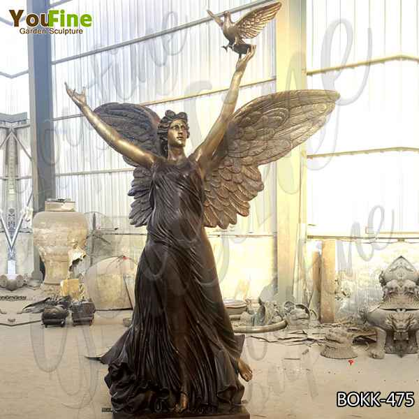 High-quality Outdoor Large Casting Bronze Angel Statue Design for Sale BOKK-475