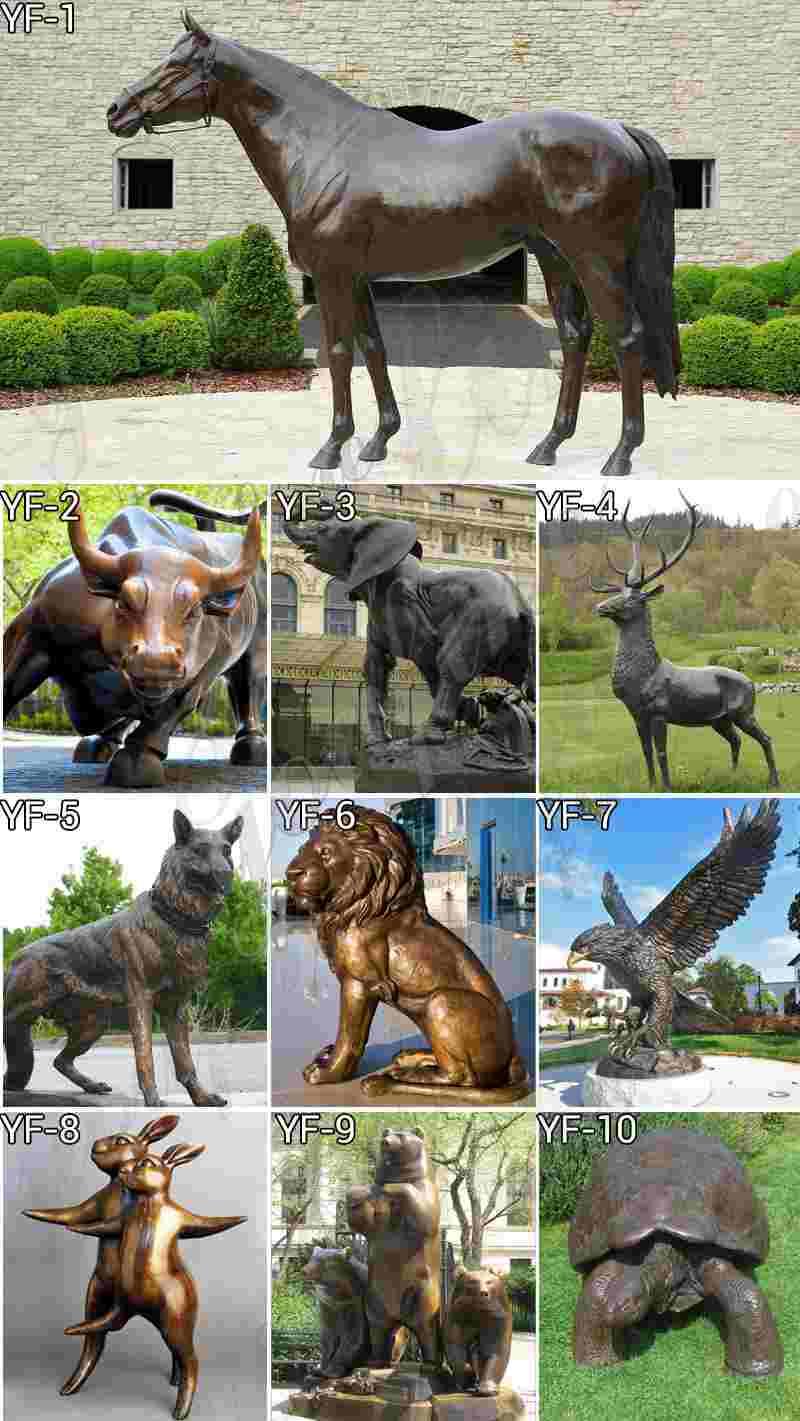 Bronze Elephant Garden Sculptures