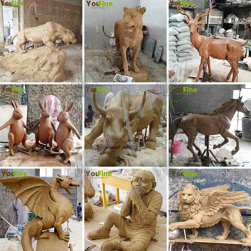 Bronze Elk Sculpture