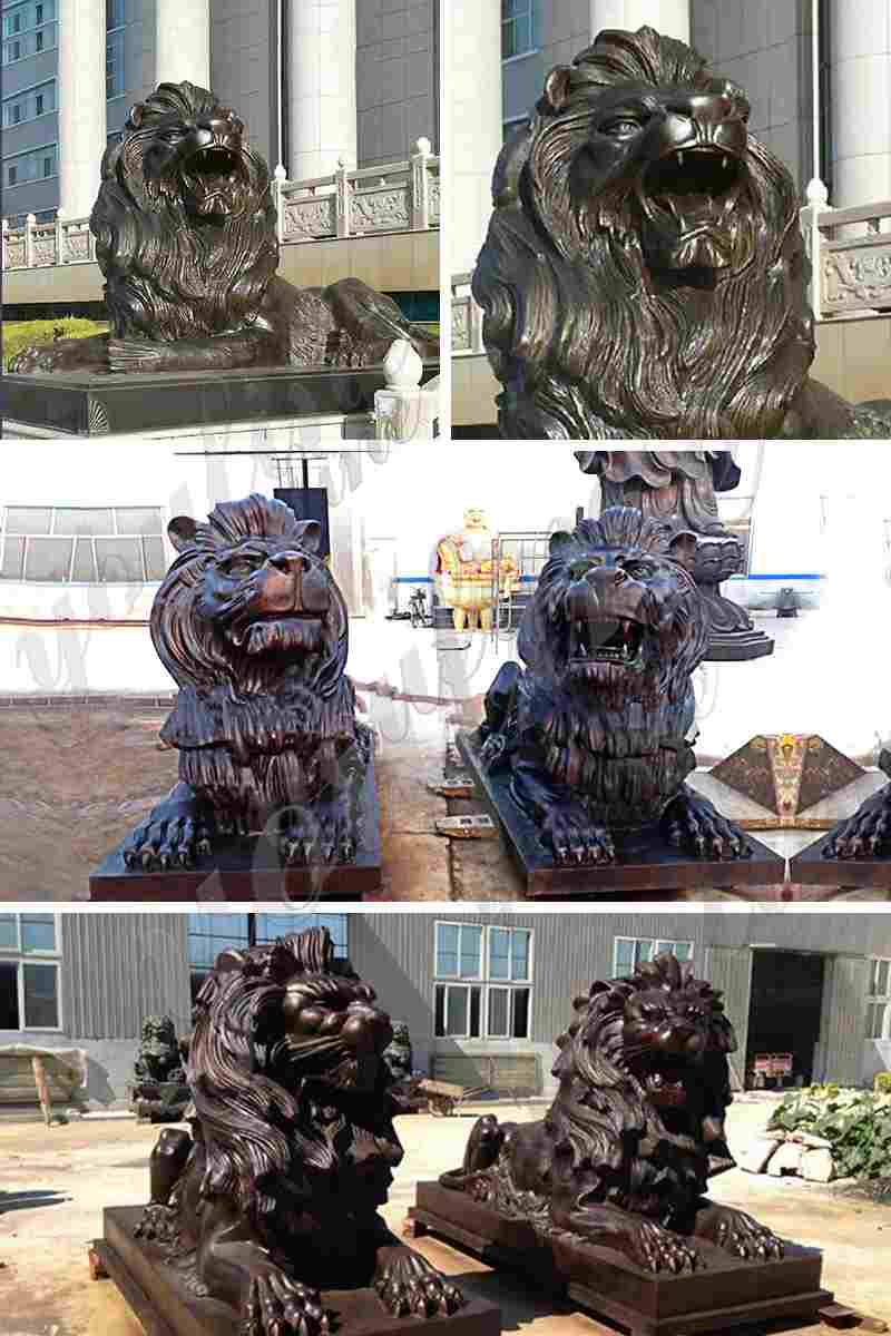 Bronze Lion Sculptures