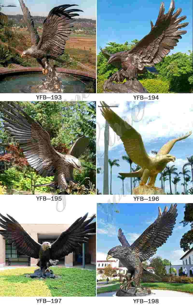 Outdoor Antique Bronze Eagle Sculpture