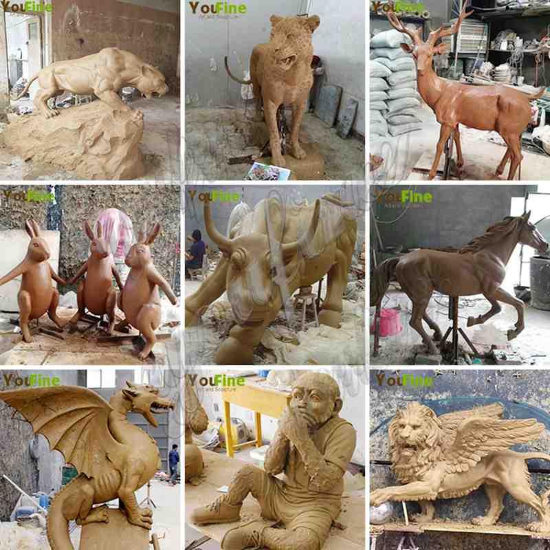 Outdoor Bronze Wild Elk Sculpture