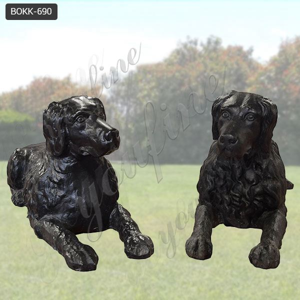 Decorative Life Size Antique Bronze Dog Sculptures for Decor Manufacturer BOKK-690