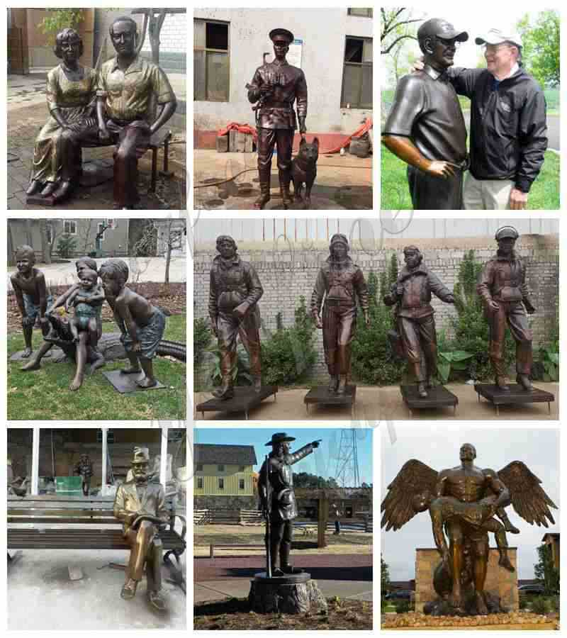 Large Size Bronze Angel Holding Fallen Soldier Memorial Statue