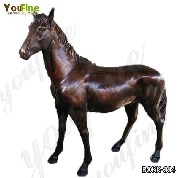 Life Size Metal Antique Bronze Horse Garden Statue Manufacturer BOKK-664