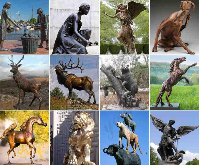 Antique Bronze Dog Statues