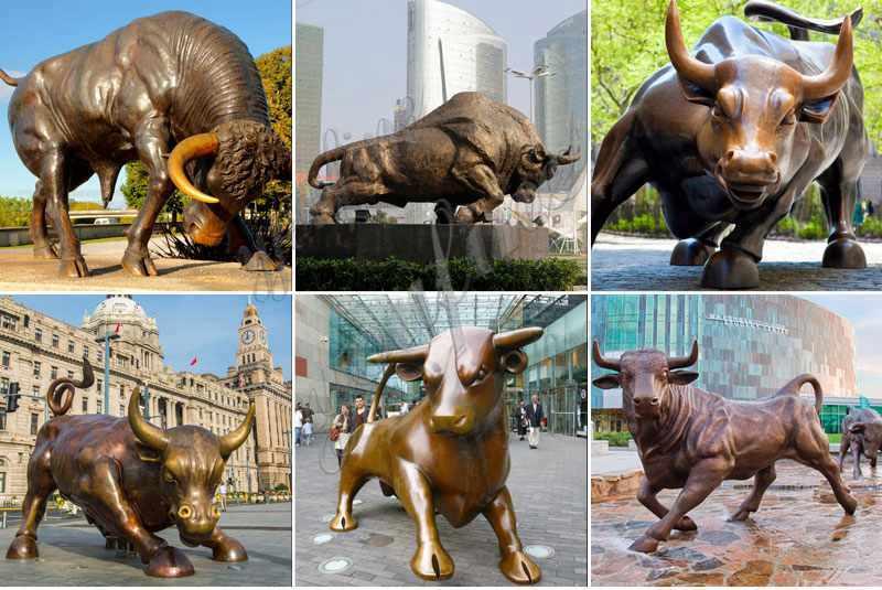 Bronze Charging Bull Statue