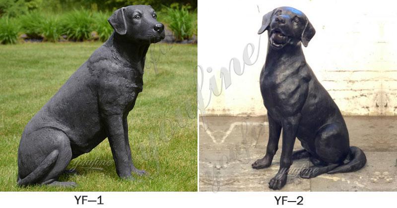 Bronze Labrador Dog Sculpture