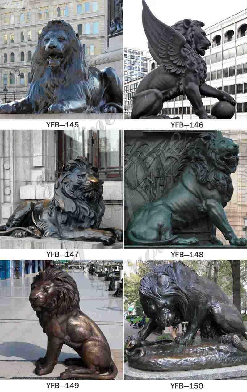 Bronze Lion and Cub Statue