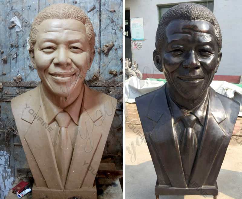 Bronze Mandela Bust Statue