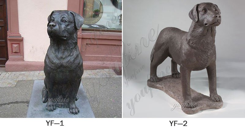 Bronze Rottweiler Sculpture