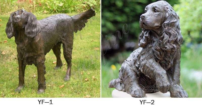Bronze Springer Spaniel Statue
