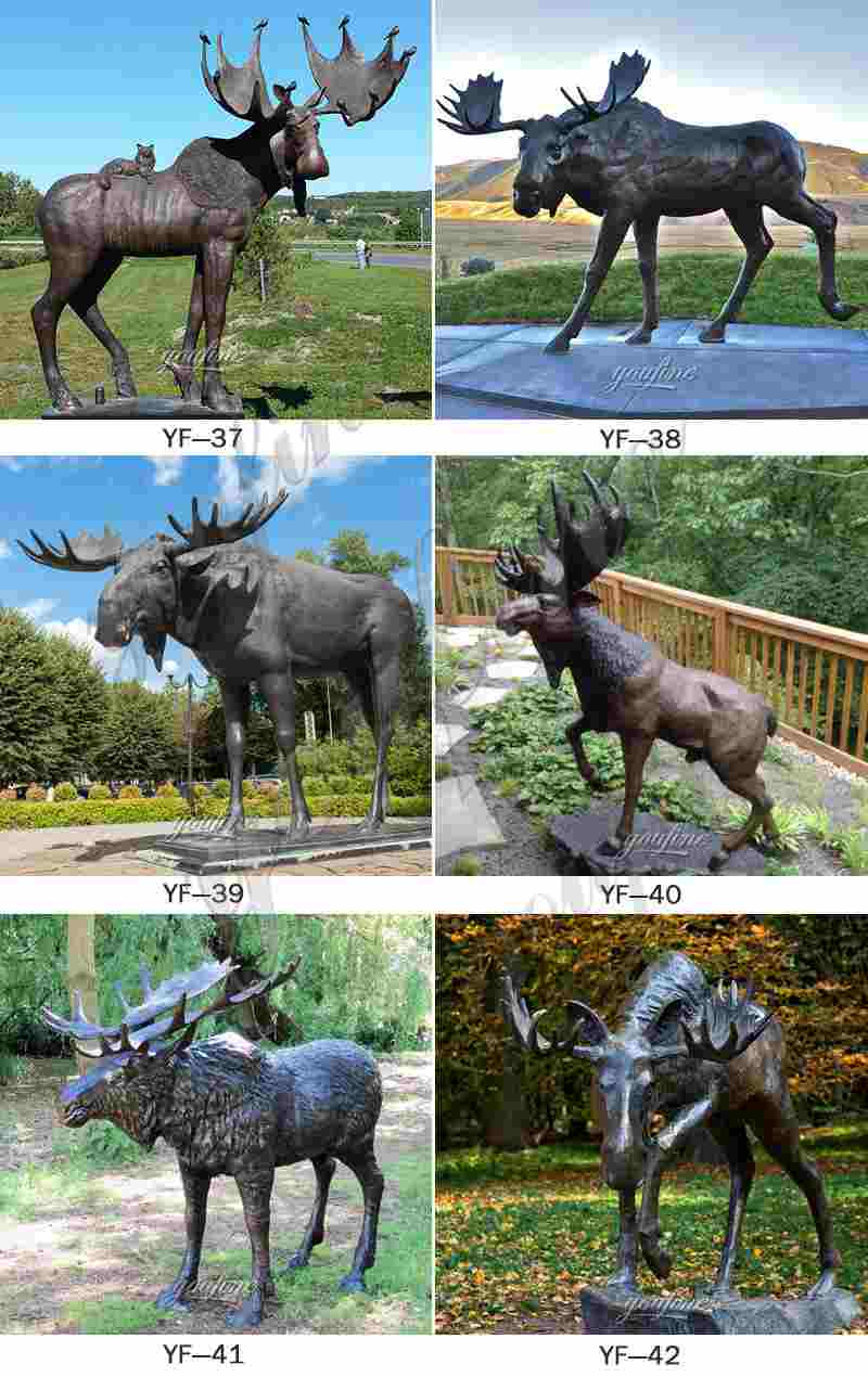 Bronze Wildlife Moose Sculpture