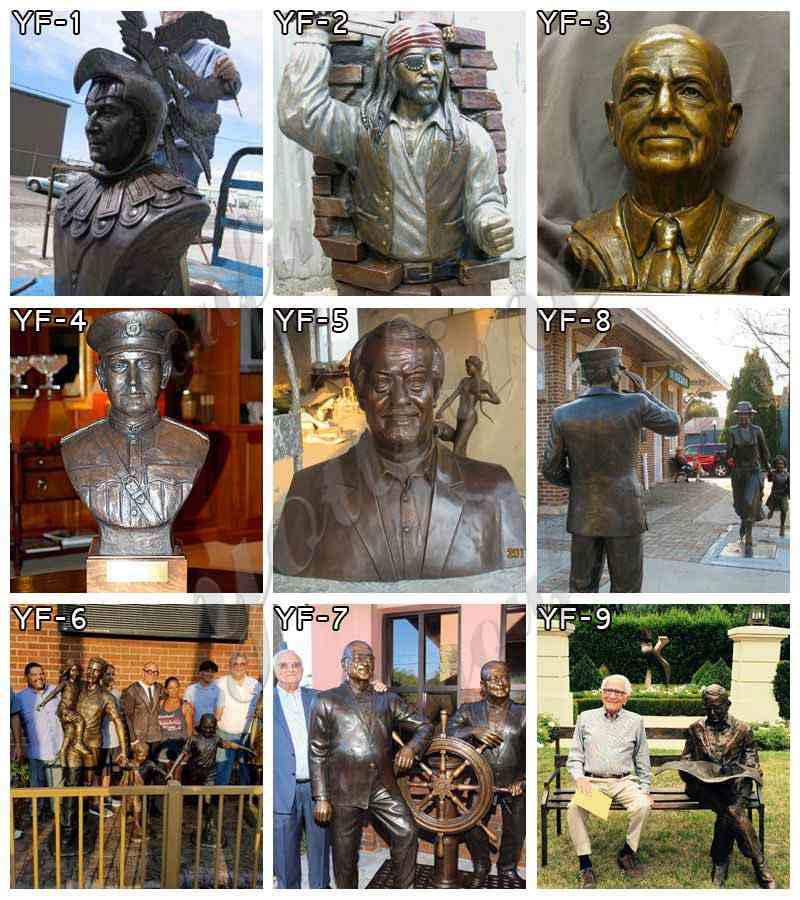 Casting Bronze Mandela Bust Statue Design