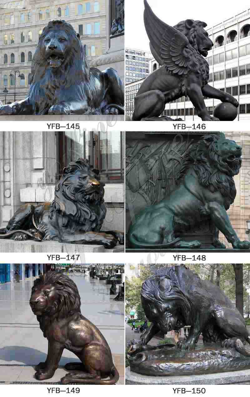 Craft Bronze Outdoor Lion Sculpture