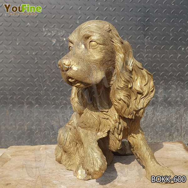 Custom Ornamnetal Brass English Springer Spaniel Sculpture for Sale BOKK-600