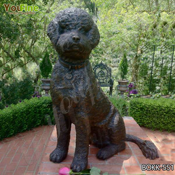Customized Ornamental Bronze Standard Poodle Sculpture Design for Sale BOKK-551