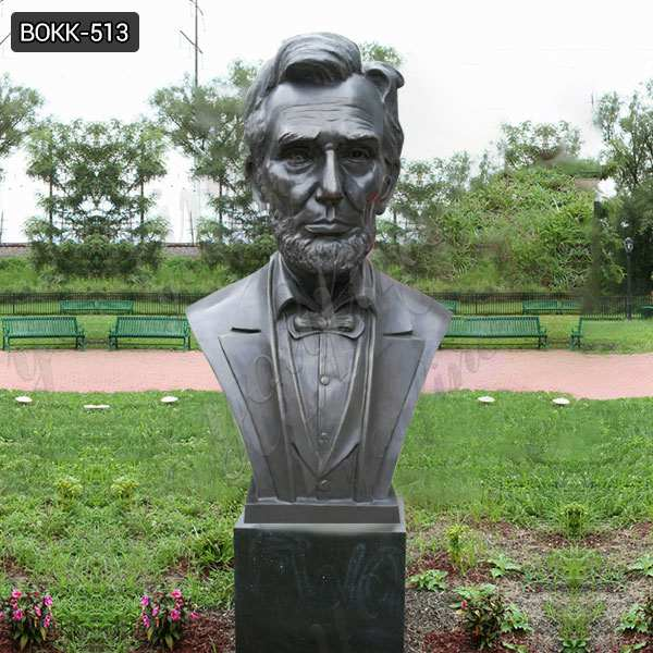 Famous Antique Bronze Abraham Lincoln Bust Statue for Decor Supplier BOKK-513