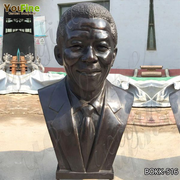 Famous Interiors Casting Bronze Mandela Bust Statue Design for Sale BOKK-516