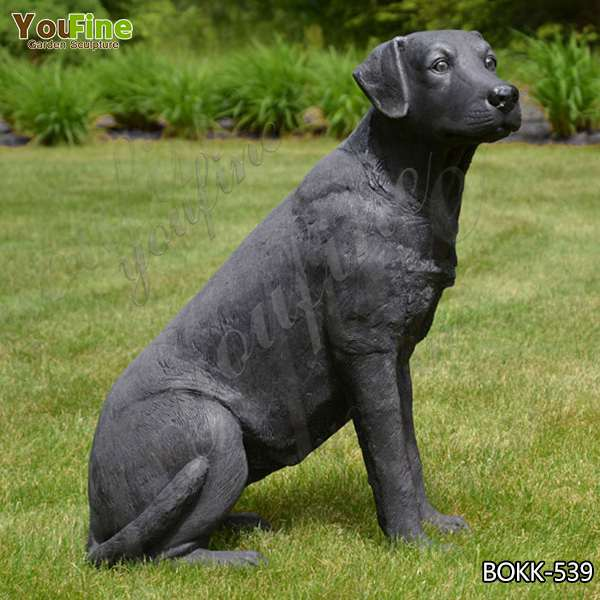 Garden Decorative Cute Bronze Labrador Dog Sculpture for Decor Wholesale BOKK-539