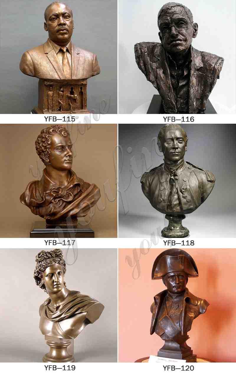 Greek Apollo Bronze Bust Statue Design