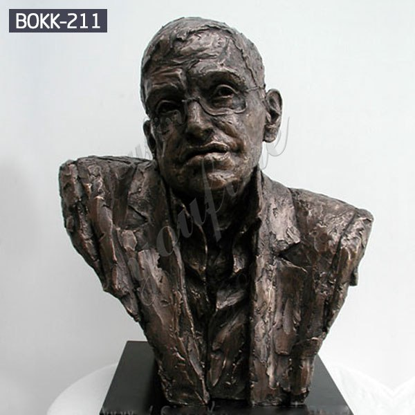Hot Selling Famous Stephen Hawking Bronze Decorative Bust Statue for Sale BOKK-211
