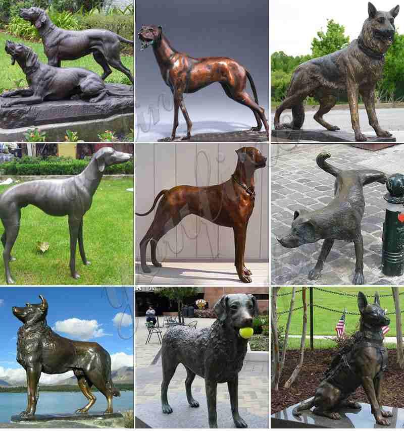 Large Size Bronze Dog Sculpture