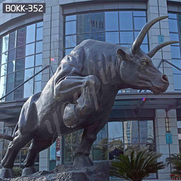 Outdoor Large Chicago Bronze Bull Statue for Decor for Sale BOKK-352