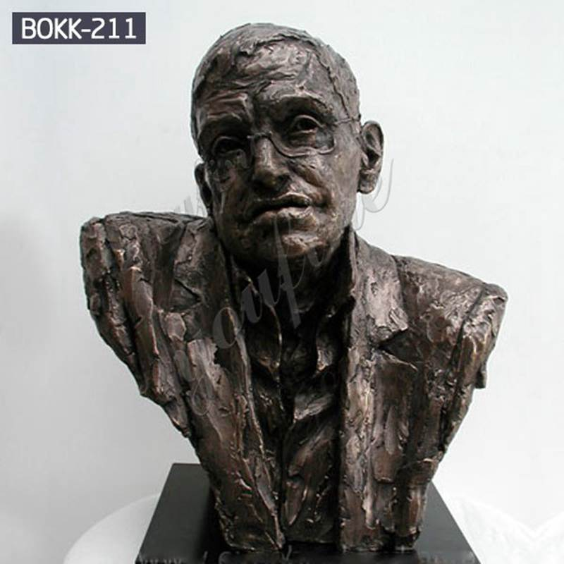 Stephen Hawking Bronze Decorative Bust Statue
